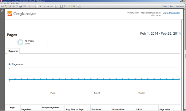 Google Analytics PDF Report