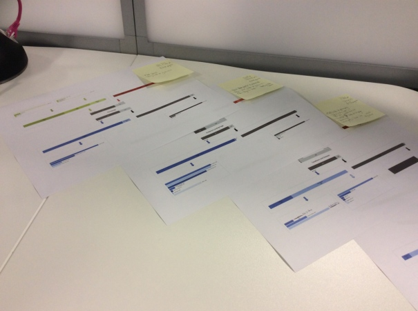 Single user Journeys on a desk