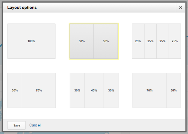 Google Analytics Dashboard - Layout Options