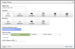 Widget settings sessions with event - Google Analytics Dashboard