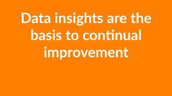 data insights are the basis to continual improvement