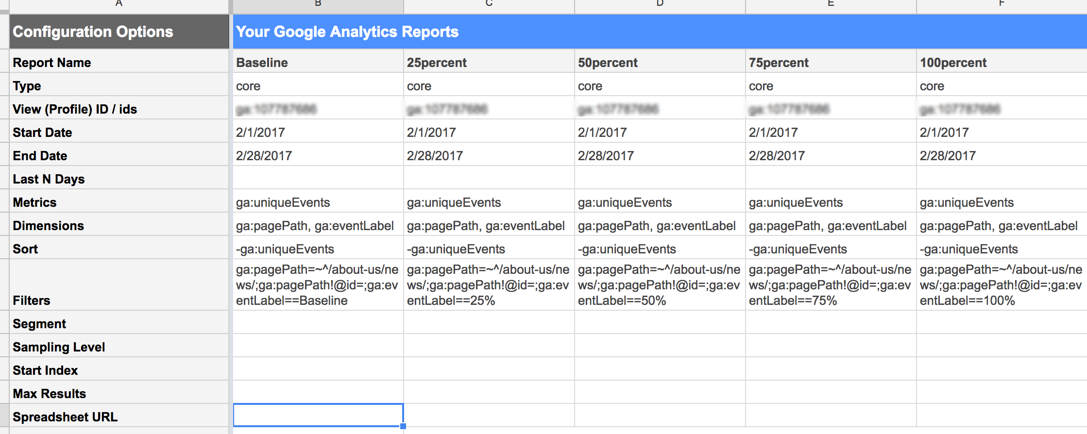 Creating heat map report for scroll depth using google