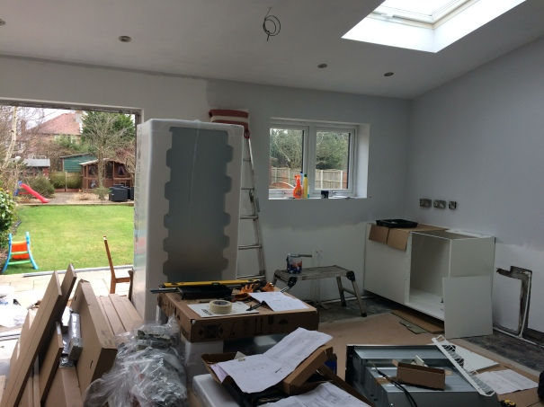 Kitchen in mid build